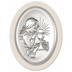 Obrazek srebrny Komunia Św. 6342/2aw