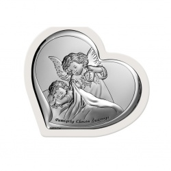 Obrazek srebrny Aniołek nad dzieckiem 6449/1W